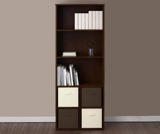Ameriwood System Build 5 Shelf Resort Cherry Cube Organizer Big
