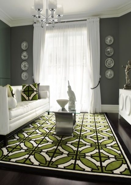 Green Black And White Geometric Rug Designing The Home