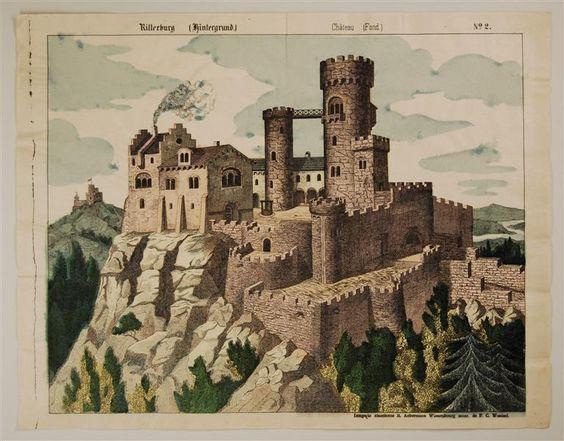 Ritterburg (Hintergrund.) Château (Fond.) No. 2.