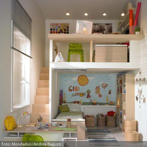 Kinderzimmer\/ Hochbett roomido Zimmer Pinterest - ideale schreibtisch im kinderzimmer