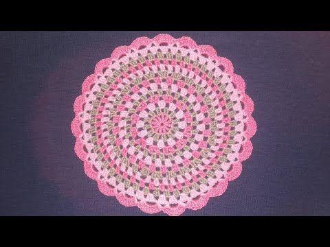 Centrino Uncinetto Facile Tutorial Doily Crochet Centro De Mesa Crochet Youtube Uncinetto Uncinetto Facile Presine All Uncinetto