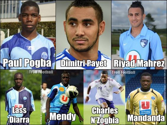 Some players from Le Havre AC academy