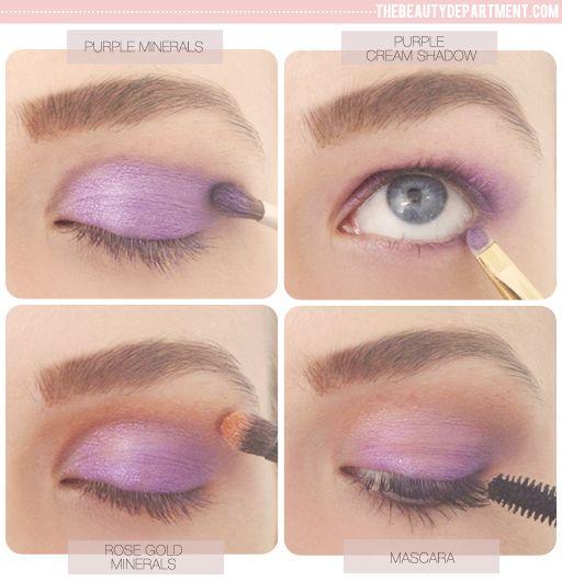 Sweet Summer Eye using rose gold + purple.