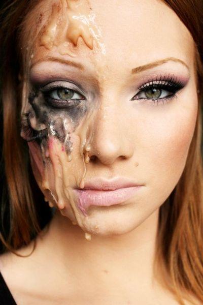 Melting Cool Halloween Makeup