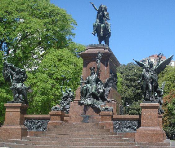Monumento al General San Martín y a los Ejércitos de la Independencia.buenos aires sculpture