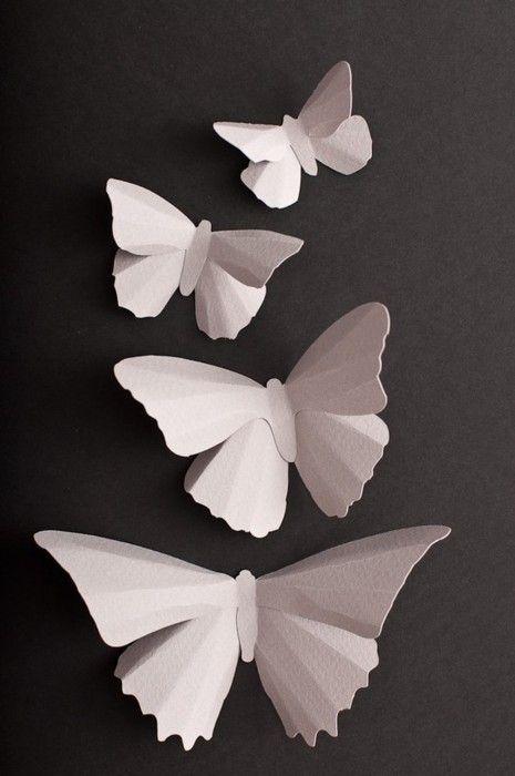 papillons en papier papier and d cor on pinterest. Black Bedroom Furniture Sets. Home Design Ideas