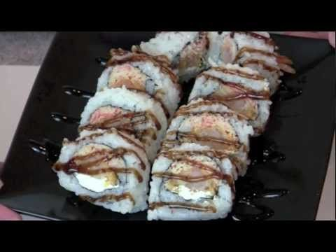 Shrimp tempura sushi roll with spicy crab and eel sauce so for Buy sushi grade fish online