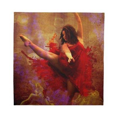 Dance More, Girl in Red dress custom napkins by GameRoom