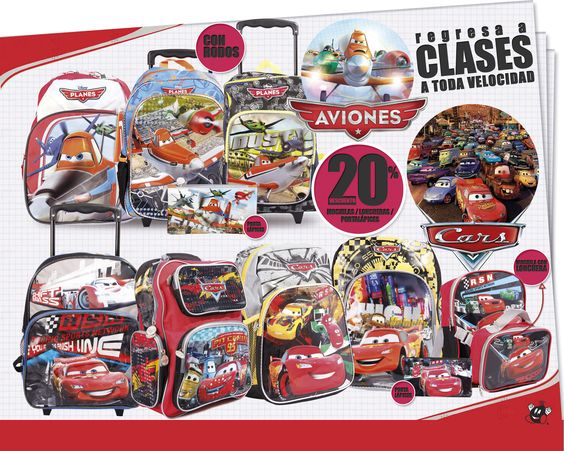 El regreso a clases viene a toda velocidad a tus Almacenes Bomba con #Cars #Planes #Clases2014
