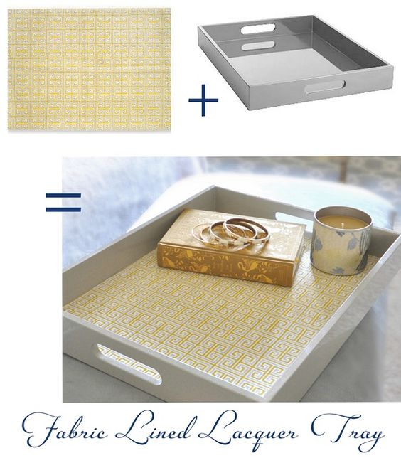 fabric lined tray