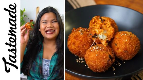 Fried Kimchi Rice Balls | The Tastemakers-Jen Phanomrat