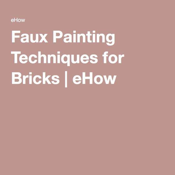 Faux Painting Techniques for Bricks | eHow