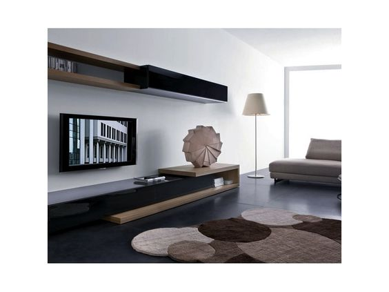 living room sleek and modern low slung furniture minimal with