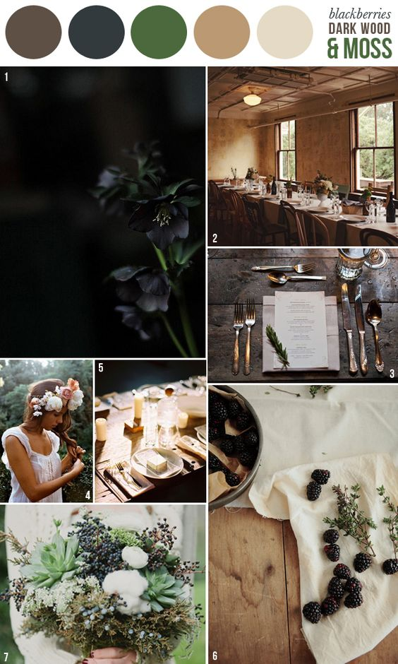 HEY LOOK: COLOR INSPIRATION: DARK WOOD, MOSS & BLACKBERRIES