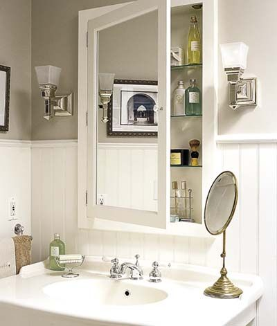 1000 ideas about recessed medicine cabinet on pinterest - Old fashioned bathroom furniture ...