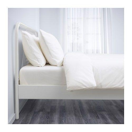 Nesttun Bedframe Wit 140x200 Cm Bed Frame Bed Full Bed Frame