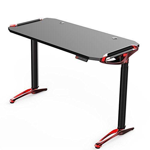 Kinsal Electric Height Adjustable Sit To Stand Gaming Desk Aluminium Alloy Computer Desk Table Standing Desk Racing Tabl Wellness Design Game Design Desktop Pc