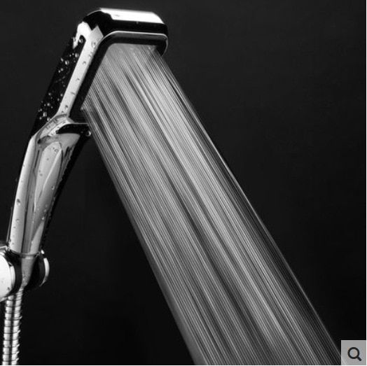 300 Hole Pressurized Water Saving Shower Head Abs With Chrome