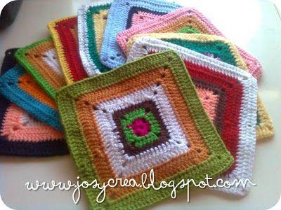 Crochet crochet tutorials and tejido on pinterest - Cuadraditos de crochet ...