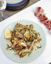Food and Wine Inspirations.  Roasted Artichokes and Proscuitto photography photography photography