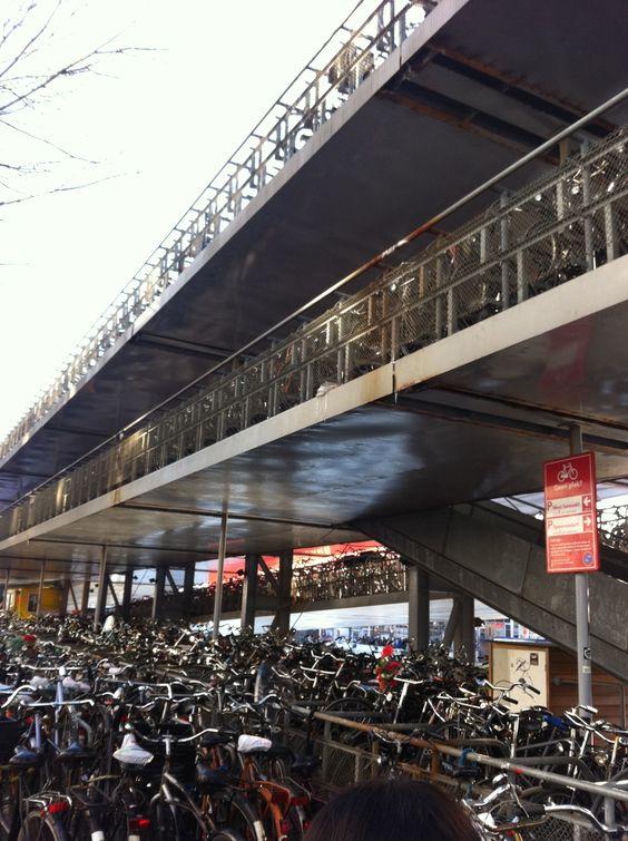 Amsterdam Bike Parking Garage Cycling Pinterest The