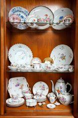 Antique tea cups stock photo