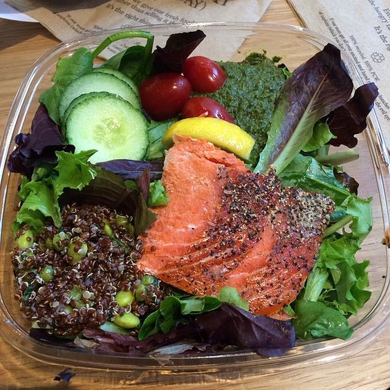Pret a Manger Salad | Wild Salmon Salad at Pret A Manger Union Square