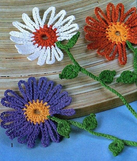 Tina's handicraft : crochet flower