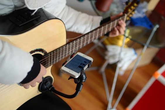 Guitar Clamp Cell Phone Iphone Holder For Smart Phones Ships Stand Tablet Attach