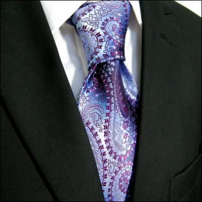 *** NEW *** Shades of Purple and Navy Woven Paisley Tie