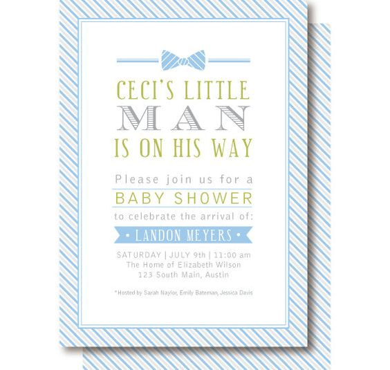 Little Man Bow Tie Invitation by DelightPaperie on Etsy, $29.90