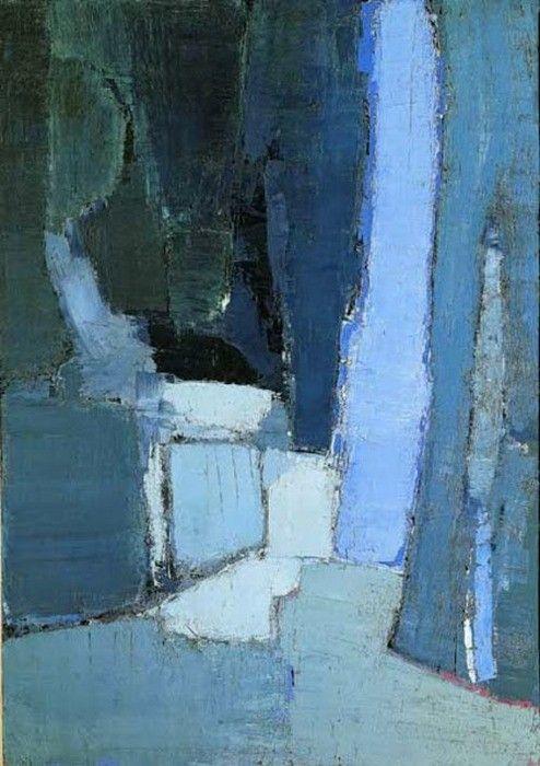 """""""Le parc de Sceaux, 1952"""" huile sur toile de Nicolas de Staël (1914-1955) peintre français d'origine russe.                                                                                                                                                      Plus"""