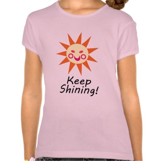 Keep Shining Happy Faced Smiling Sun Tee Shirts
