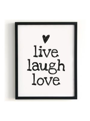 Color Negro Y Blanco Black White Live Laugh Love