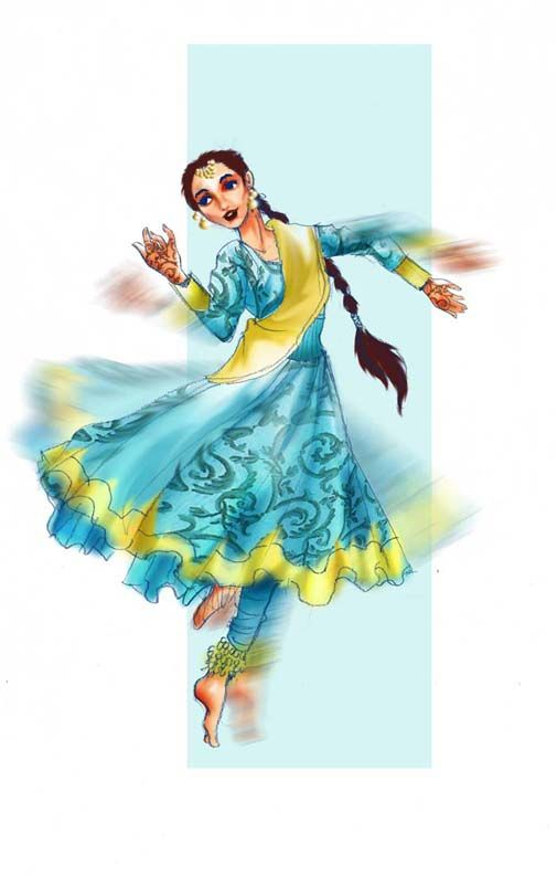 Kathak Dance Drawing Beautiful drawing of a kathak dancer by artciel ... Beautiful Kathak Dance Costume
