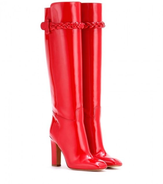 Valentino To Be Cool patent leather boots on shopstyle.com