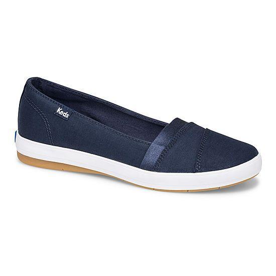Keds Womens Carmel Twill Slip On Shoe Round Toe Jcpenney Slip