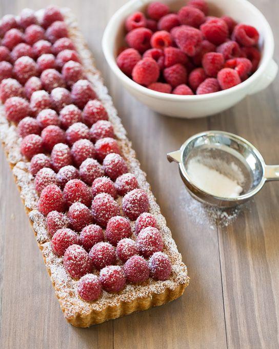 Raspberry Frangipane Tart via Gather & Dine #recipe