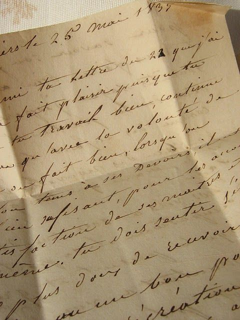 Handwritten in 1835