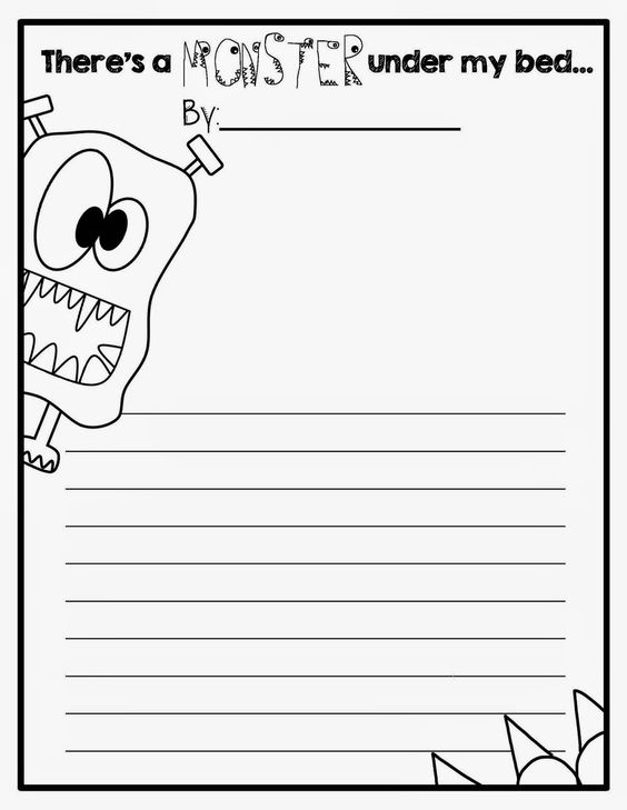 Create a monster writing activity first grade