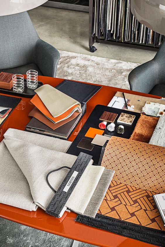 interior design fabrics - Materials on Behance, mood board, interior design, ideas decor ...
