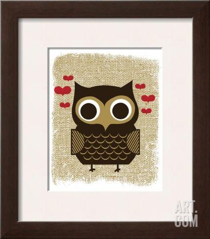 Owl Always Love You Framed Art Print by Hero Design at Art.com