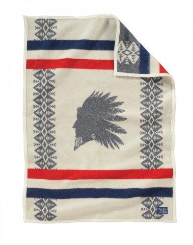 Heroic Chief Crib Blanket by Pendleton
