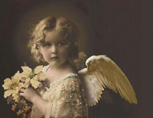 Vintage Angel Face Xmas by SabraKhan, via Flickr