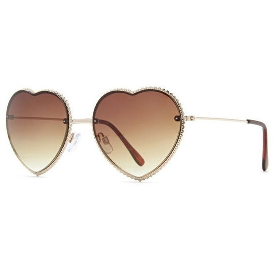 Forever 21 Heart-Shaped Sunglasses featuring polyvore women's fashion accessories eyewear sunglasses forever 21 glasses forever 21 sunglasses heart sunglasses heart glasses heart shaped sunglasses