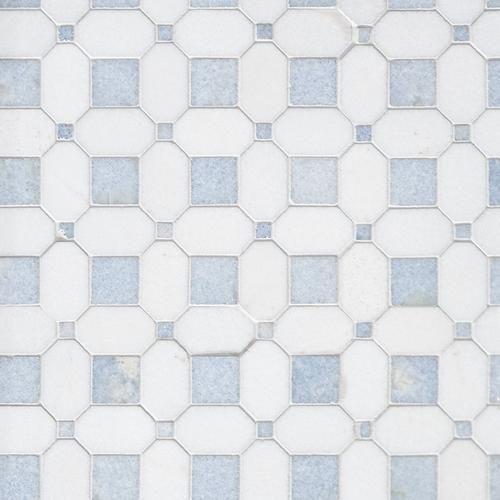 Thassos Blue Celeste Basket Weave Marble Mosaic In 2020 Marble Mosaic Macaubas Porcelain Mosaic