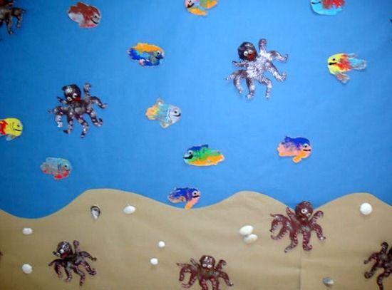 La profe nai nos ense a un precioso mural realizado con - Materiales para hacer paredes ...