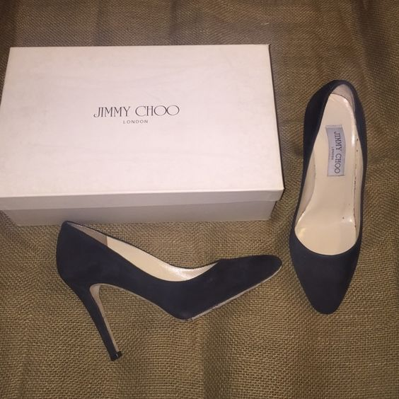 """Jimmy Choo Black Suede Pump  Low-ball offers  Trades  """"What's your lowest"""" - thank you  - Authentic, Preloved Choos in good condition.  There are signs of wear on the soles, bottoms, and black suede due to normal use. Comes with original box. No dust bags. Jimmy Choo Shoes Heels"""