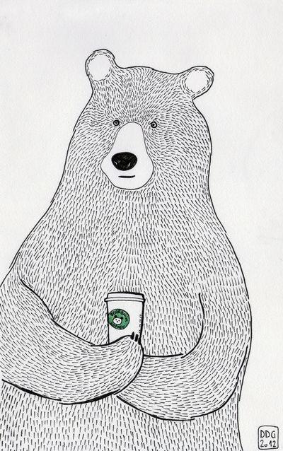 Bear Art Print:
