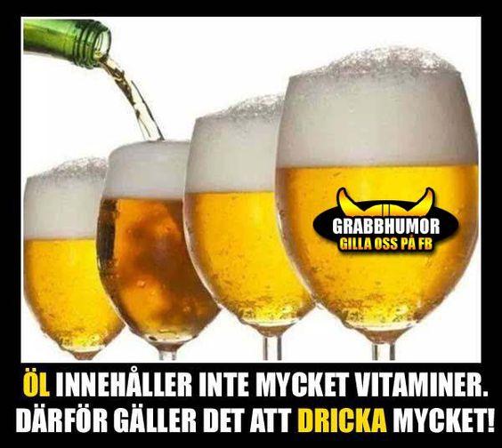 Öl innehåller inte mycket vitaminer